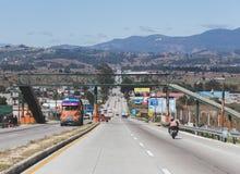 Carretera en Guatemala central Imagenes de archivo