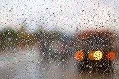 Carretera en la lluvia Foto de archivo libre de regalías