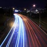 Carretera en la noche Fotos de archivo