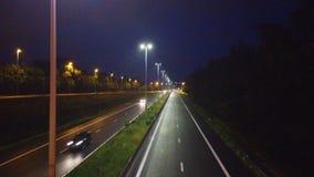 Carretera en la noche almacen de video