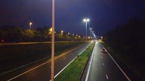 Carretera en la noche almacen de metraje de vídeo