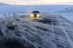 Carretera en la tormenta Fotografía de archivo