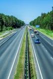 Carretera en Letonia Imágenes de archivo libres de regalías