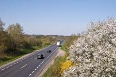 Carretera en Polonia Fotografía de archivo
