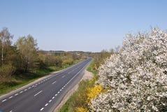 Carretera en Polonia Foto de archivo libre de regalías