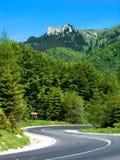 Carretera en Rumania Fotografía de archivo libre de regalías