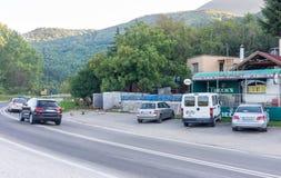 Carretera en Serbia del este Fotos de archivo libres de regalías