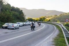 Carretera en Serbia occidental Imagen de archivo libre de regalías