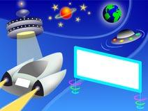 Carretera/EPS del espacio exterior Imagen de archivo libre de regalías