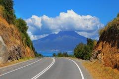 Carretera escénica Carretera austral Foto de archivo libre de regalías
