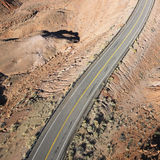 Carretera escénica en Utah. Imagen de archivo libre de regalías