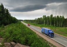 Carretera Escandinavia Fotografía de archivo