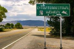 Carretera extraterrestre fotos de archivo