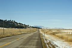 Carretera fría del invierno fotografía de archivo