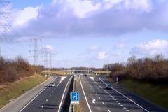 Carretera holandesa casi vacía Imagen de archivo libre de regalías