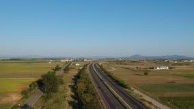 Carretera internacional de Egnatia en Grecia metrajes