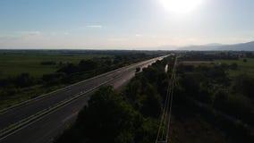 Carretera internacional de Egnatia en Grecia almacen de metraje de vídeo