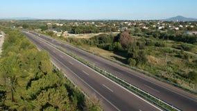 Carretera internacional de Egnatia en Grecia almacen de video