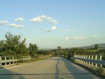 Carretera internacional de Egnatia en Grecia imagen de archivo