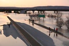Carretera inundada Foto de archivo libre de regalías