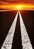Carretera larga Foto de archivo libre de regalías
