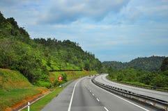 Carretera malasia escénica Imagen de archivo libre de regalías