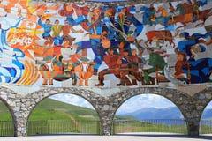 Carretera militar georgiana: Fragmento del monumento georgiano ruso de la amistad foto de archivo libre de regalías