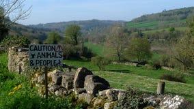 Carretera nacional cerca del baño, Somerset Imagenes de archivo
