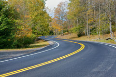 Carretera nacional de la curva doble Imagen de archivo libre de regalías