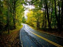 Carretera nacional del otoño foto de archivo libre de regalías