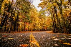 Carretera nacional del otoño imagenes de archivo