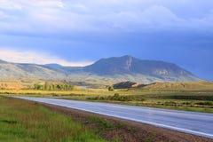Carretera nacional después del resorte Foto de archivo