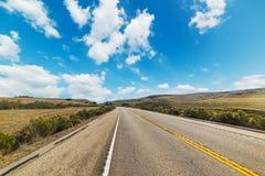 Carretera nacional en carretera de la Costa del Pacífico Fotos de archivo libres de regalías