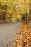 Carretera nacional en otoño Foto de archivo libre de regalías