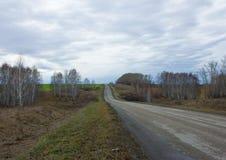 Carretera nacional entre los campos Foto de archivo