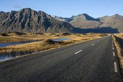 Carretera nacional - Islandia Fotos de archivo