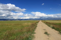 Carretera nacional sin pavimentar Foto de archivo