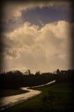 Carretera nacional solitaria Imagenes de archivo