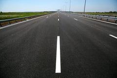 Carretera nuevamente construida Imagenes de archivo