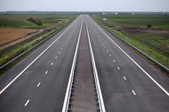 Carretera nuevamente construida Imagen de archivo libre de regalías