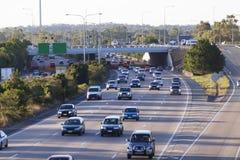 Carretera ocupada Imagen de archivo libre de regalías
