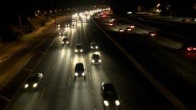 Carretera ocupada en la noche, Los Ángeles almacen de video