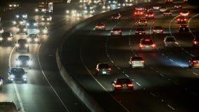 Carretera ocupada en la noche, Los Ángeles metrajes