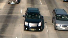 Carretera ocupada en Los Ángeles almacen de metraje de vídeo