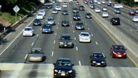 Carretera ocupada en Los Ángeles almacen de video
