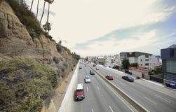 Carretera pacífica Santa Monica Foto de archivo libre de regalías