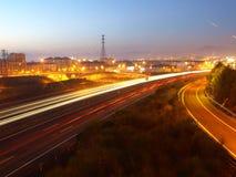 Carretera a Pamplona fotos de archivo