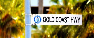 Carretera Queensland Australia de Gold Coast Foto de archivo libre de regalías