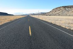 Carretera recta foto de archivo libre de regalías