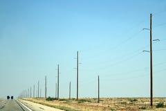 Carretera a Roswell Fotos de archivo libres de regalías